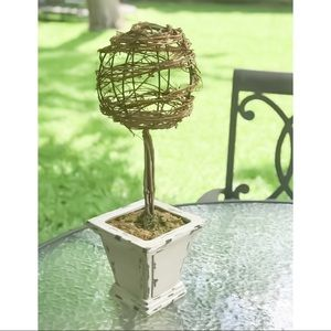 "🔥SALE Vine wrap Topiary distressed Square Pot 20"""